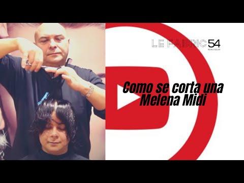 Como se corta una Melena Midi - Short Haircut midi Hair cutting Video Tutorial