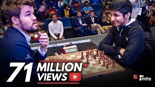 The shortest game of Magnus Carlsen's chess career!