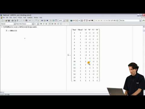 Mathcad 15 -- New Design of Experiments Demo