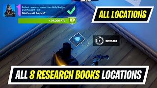 Collect research books from Holly Hedges and Pleasant Park (8) locations in Fortnite - Week 8 Quest