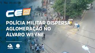 Polícia Militar dispersa aglomeração no Álvaro Weyne