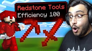 MINECRAFT BUT I CAN CRAFT OP REDSTONE ITEMS | RAWKNEE