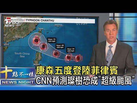 康森五度登陸菲律賓 CNN預測璨樹恐成「超級颱風」 十點不一樣20210908