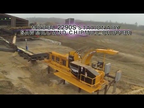The all-new Bandit Model 2290S stationary sawmill/chipmill chipper.