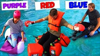 Using only ONE COLOR to build BOATS! Challenge
