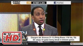 ESPN First Take - Chargers Defeat Broncos : Thursday Night Football?2017