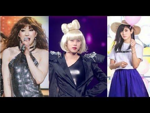 Jo Kwon vs Kim Heechul vs Ren   DIFFERENT VIBES when MALE IDOLS dressed as a GIRLS