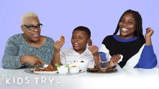 Mom vs. Grandma Cooking Challenge | Kids Try | HiHo Kids