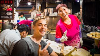 EPIC Korean STREET FOOD Market of Seoul – Gwangjang Market Tour *Netflix Special Episode*
