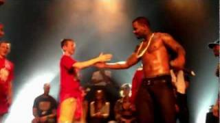 The Game brings kid on stage and raps with him!