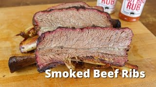 Smoked Beef Ribs   Dino Beef Ribs Recipe - Texas Style