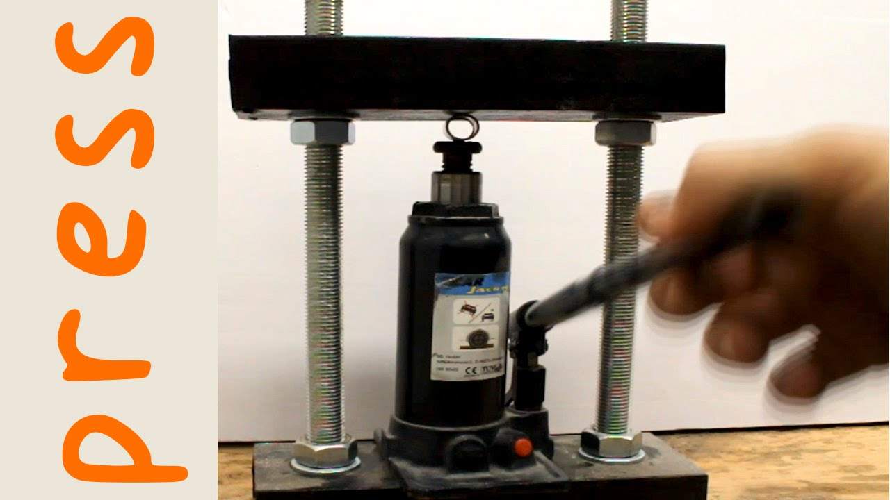 Diy 5 Ton Hydraulic Press Youtube