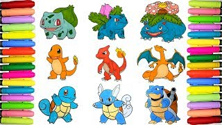 Pokemon Coloring Pages Pokedex 1 To 9