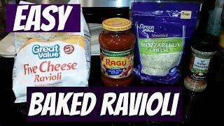 EASY BAKED RAVIOLI~FOODIE FRIDAYS!