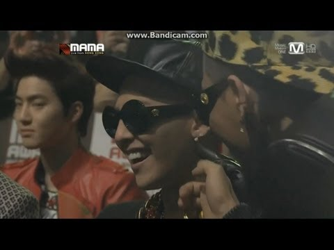 [HD]121130 MAMA EXO reaction cuts (Last Part) + Ending interaction with Big Bang SHINee