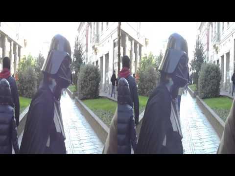 Dad Vader - Carnival in 3D 2013 (YT3D) Star Wars Darth Vader Parody