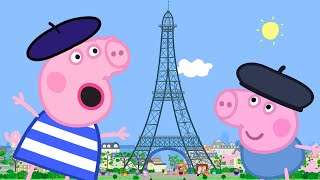 Peppa Pig Full Episodes | Peppa Goes to Paris | Cartoons for Children