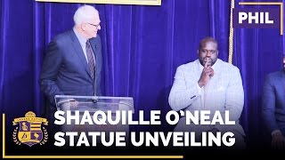 Phil Jackson Tells Stories About Shaq At Statue Unveiling