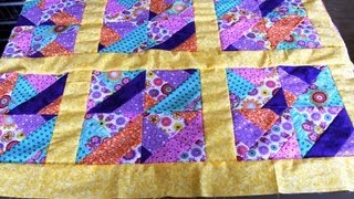 How to #sew #quilt squares borders- Jelly Roll quilt
