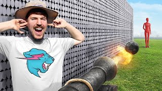 Can 50,000 Magnets Catch A Cannon Ball?