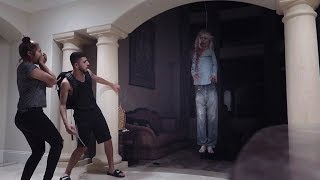 POSSESSED DEMON GIRL SCARE PRANK!! (HE ALMOST GOT PUNCHED)   FaZe Rug