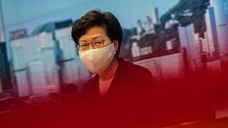 U.S. Sanctions Hong Kong Chief Lam Over Crackdown