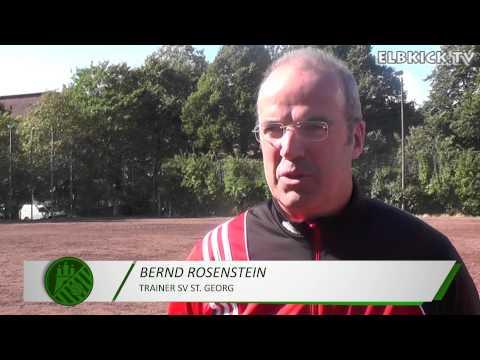 Bernd Rosenheim (Trainer SV St. Georg) und Uwe Erdmann (Trainer SC Vier- und Marschlande III) - Die Stimmen zum Spiel (SV St. Georg - SC Vier-und Marschlande III, Kreisklasse)