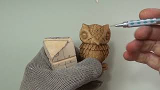 How to Wood Carve a Sleepy Owl