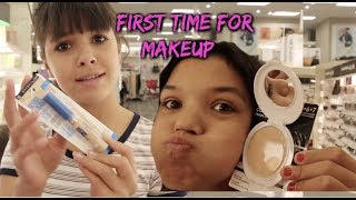 FRIEND BUYS MY Back to SCHOOL Makeup! RYKEL's First time makeup shopping!