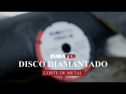 Disco de Corte Diamantado 115x22mm Para Metal Bumafer - Vídeo explicativo
