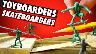 Army Man-style Skateboard Guys