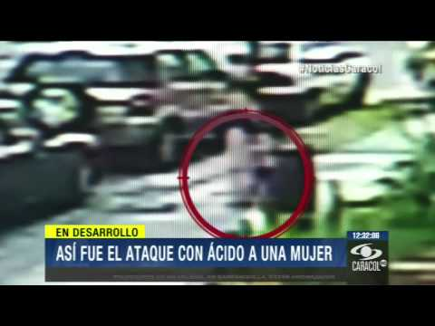 Video registró cómo delincuente le lanzó ácido a mujer en Bogotá 28 de Marzo de 2014
