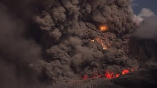 Sinabung: pyroclastic flows with twister and volcanic lightning