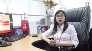 What do you work for? Techcombank 11 floor