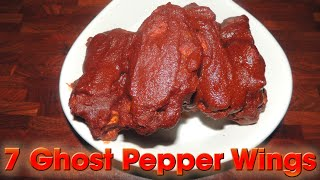 Ghost Pepper Wings SIZZLING 7 WING CHALLENGE!!
