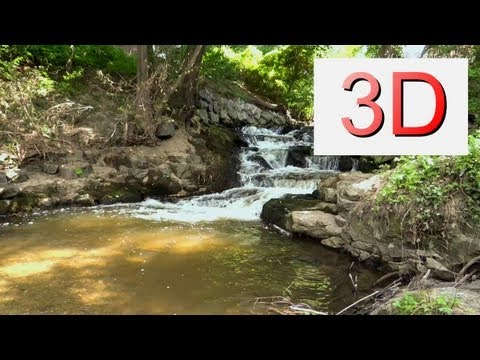 3D VIDEO: One Hour Waterfall Relaxation #1