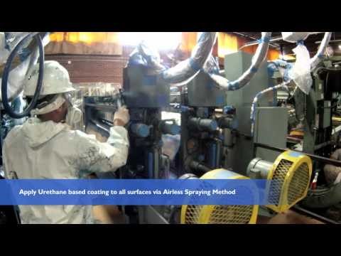 Allied Painting Contractors Coating of a International Paper container machine