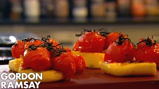 Gordon Ramsay's Grilled Polenta with Tomatoes and Goat's Curd