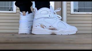Air Jordan 8 OVO - WHITE ON FOOT LOOK!!!