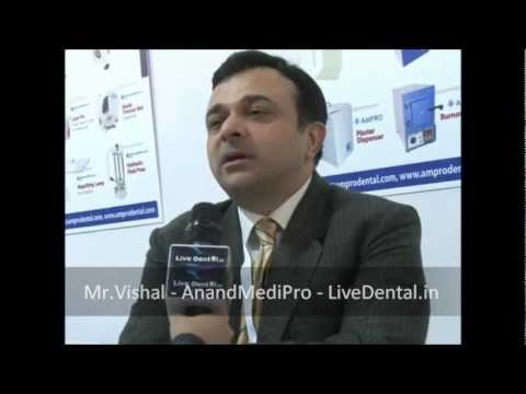 Mr. Vishal Anand from Anand Medi Pro in Expodent International 2012