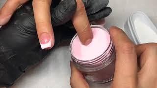 Hướng dẫn làm Dipping Pink and White