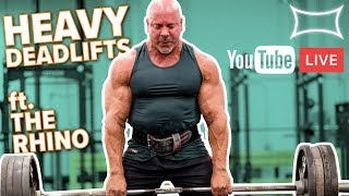 Stan Efferding & Mark Bell HEAVY Deadlifts LIVE!