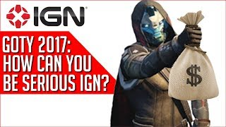 One IGN Game of the Year Choice Is A Little Suspicious....