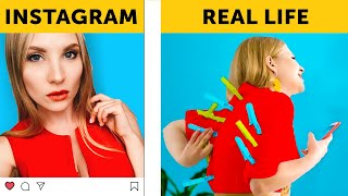 INSTAGRAM VS REALITY || Are you living an insta lie? || Relatable by 5-Minute FUN