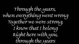 Through The Years by Kenny Rogers w / Lyrics