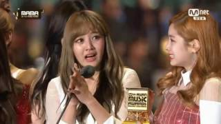 TWICE - DAESANG 'Song Of The Year' 161202 @MAMA 2016