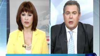 Ο Πάνος Καμμένος στο ΚΔ ειδήσεων ΑΝΤ1 08 Ιουνίου 2012