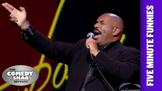 Steve Harvey⎢Sick Of This War!⎢Shaq's Five Minute Funnies⎢Comedy Shaq