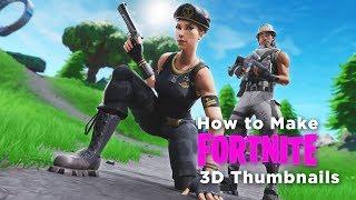 How To Make 3D Fortnite Thumbnails In Blender (Better Than
