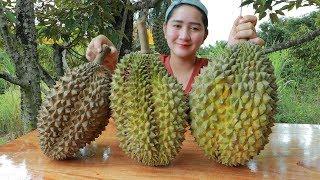 Yummy Durian Cream Dessert Cooking - Durian Dessert - Cooking With Sros
